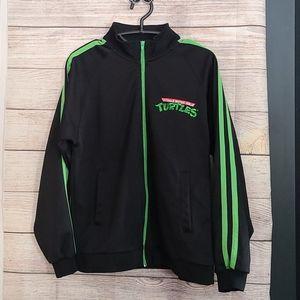 TMNT Black & Green Track Jacket Size S Turtles